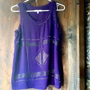 Tops - Purple beaded chiffon blouse ❤️